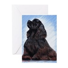 Black Cocker Spaniel Greeting Cards
