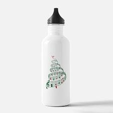 Music Christmas tree Water Bottle