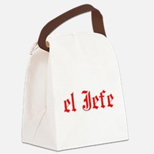 el jefe Canvas Lunch Bag