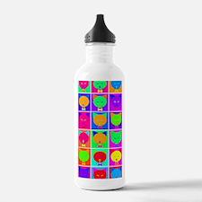 Pop Art Cartoon Cats Water Bottle