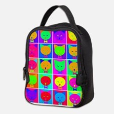 Pop Art Cartoon Cats Neoprene Lunch Bag