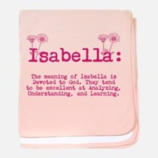 The Meaning of Isabella baby blanket