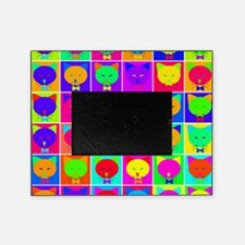 Pop Art Cartoon Cats Picture Frame