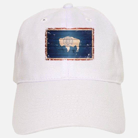 Wyoming State Flag Baseball Baseball Cap