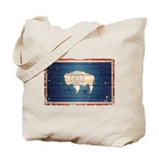 Wyoming State Flag Tote Bag