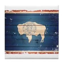 Wyoming State Flag Tile Coaster