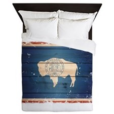 Wyoming State Flag Queen Duvet