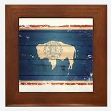 Wyoming State Flag Framed Tile