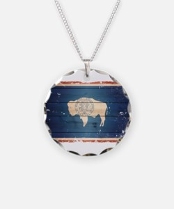 Wyoming State Flag Necklace