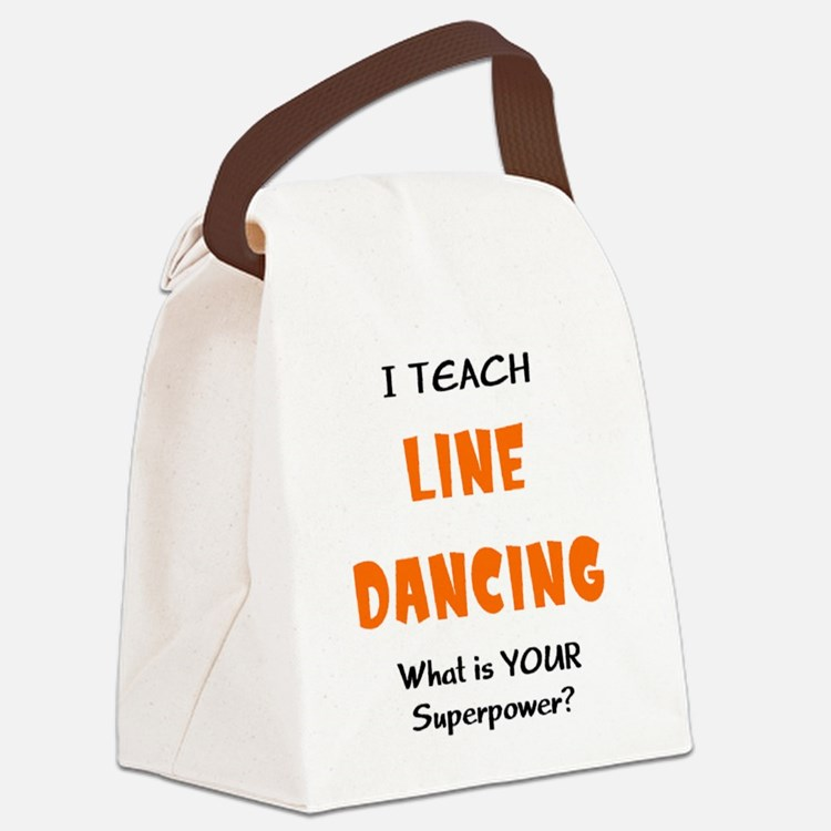 teach line dance Canvas Lunch Bag