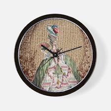 paris marie antoinette vintage fashion Wall Clock
