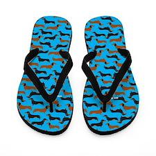 XX Teal Flip Flops
