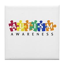 Autism Awareness Puzzle - Tile Coaster