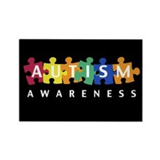 Autism Awareness Puzzle - Rectangle Magnet
