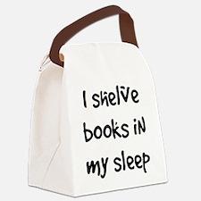 shelve books Canvas Lunch Bag