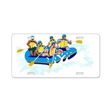 Whitewater Rafting Aluminum License Plate