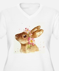 BUNNY WITH FLORAL T-Shirt