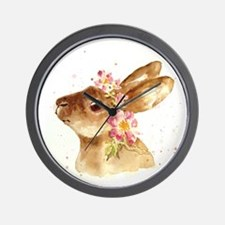 EASTER BONNET WITH FLOWERS Wall Clock