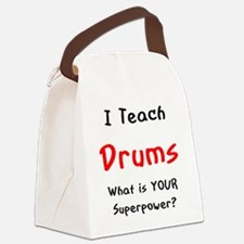 Cute Drums Canvas Lunch Bag
