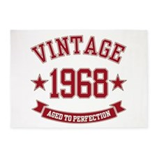 1968 Vintage Aged to Perfection 5'x7'Area Rug