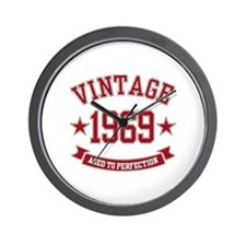 1969 Vintage Aged to Perfection Wall Clock