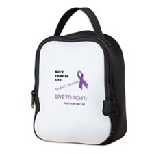 Live to Fight for a Cure Neoprene Lunch Bag