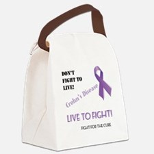 Live to Fight for a Cure Canvas Lunch Bag