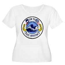 SSN 713 USS Houston Women's + Size Scoop Neck Tee