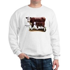 Hereford Cow and Calf Sweatshirt