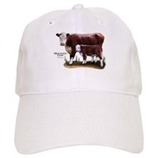 Hereford Cow and Calf Baseball Cap