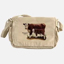 Hereford Cow and Calf Messenger Bag