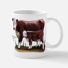 Hereford Cow and Calf Mug