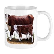 Hereford Cow and Calf Mug