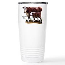 Hereford Cow and Calf Travel Mug