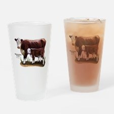Hereford Cow and Calf Drinking Glass