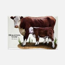 Hereford Cow and Calf Rectangle Magnet