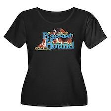 Basset Hounds Namegames Plus Size T-Shirt
