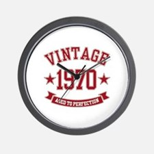 1970 Vintage Aged to Perfection Wall Clock