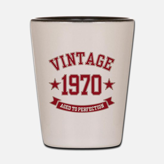 1970 Vintage Aged to Perfection Shot Glass