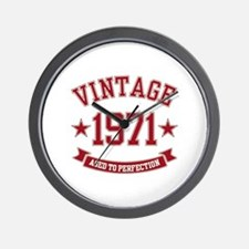 1971 Vintage Aged to Perfection Wall Clock