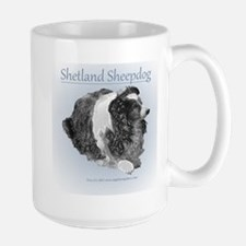 Porcelain Shetland sheepdog Mugs