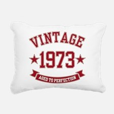 1973 Vintage Aged to Perfection Rectangular Canvas