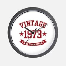 1973 Vintage Aged to Perfection Wall Clock
