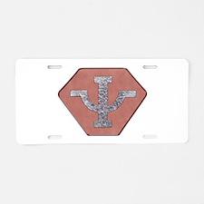 Psi Corps Aluminum License Plate