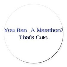 Cute Ultra marathon Round Car Magnet