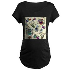 Musial Notes Maternity T-Shirt