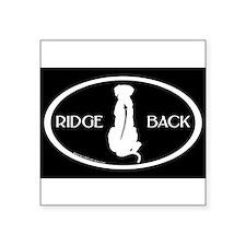 Ridgeback Oval W/ Text (wh/blk) Oval Sticker