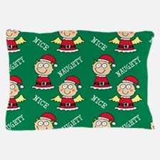 Naughty Nice Elves Pillow Case