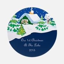 2015 1St Lake Christmas Ornament (Round)