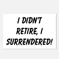 retirement surrendered Postcards (Package of 8)